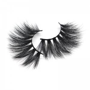 China Eyelash Factory OEM ODM Wholesale Cruelty Free 25mm Mink False Lashes