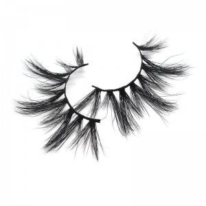 YOLANDA Style Bulk Handmade Mink Strip Lashes 25mm False Eyelashes
