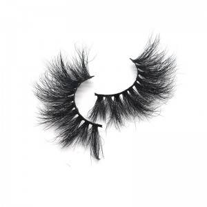 Customized 5d 100% Mink Lashes Strip 25mm Long Dramatic False Eyelashes