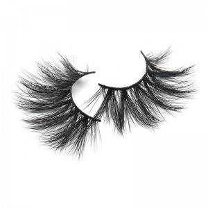 Wholesale Volume Strip Eyelashes 100% Mink Thick Long 25mm False Eye Lashes
