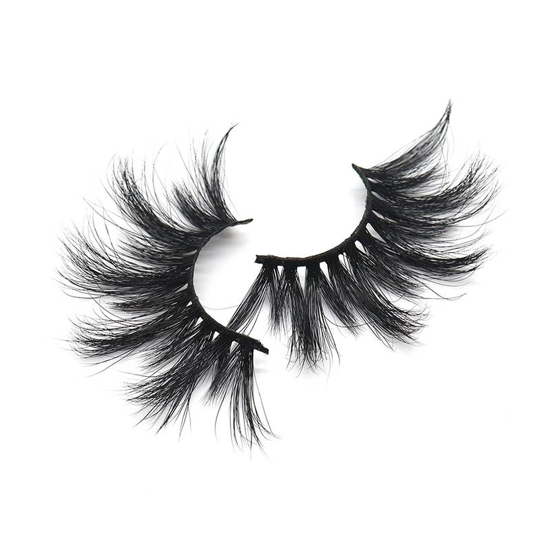 Customized Private Label Boxes Wholesale Fluffy 25mm Mink Eyelashes