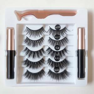 Private Label Magnetic False Eyelashes With Magnetic Eyeliner