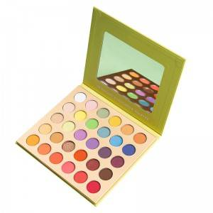 China Factory OEM Personalized Private Label 30 Colors Colorful Pigmented Makeup Eyeshadow Palette