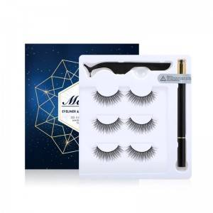 Wholesale Private Label Natural False Lashes With Adhesive Eyeliner Set