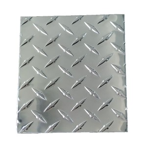 Diamond checkered aluminum plate for toolbox