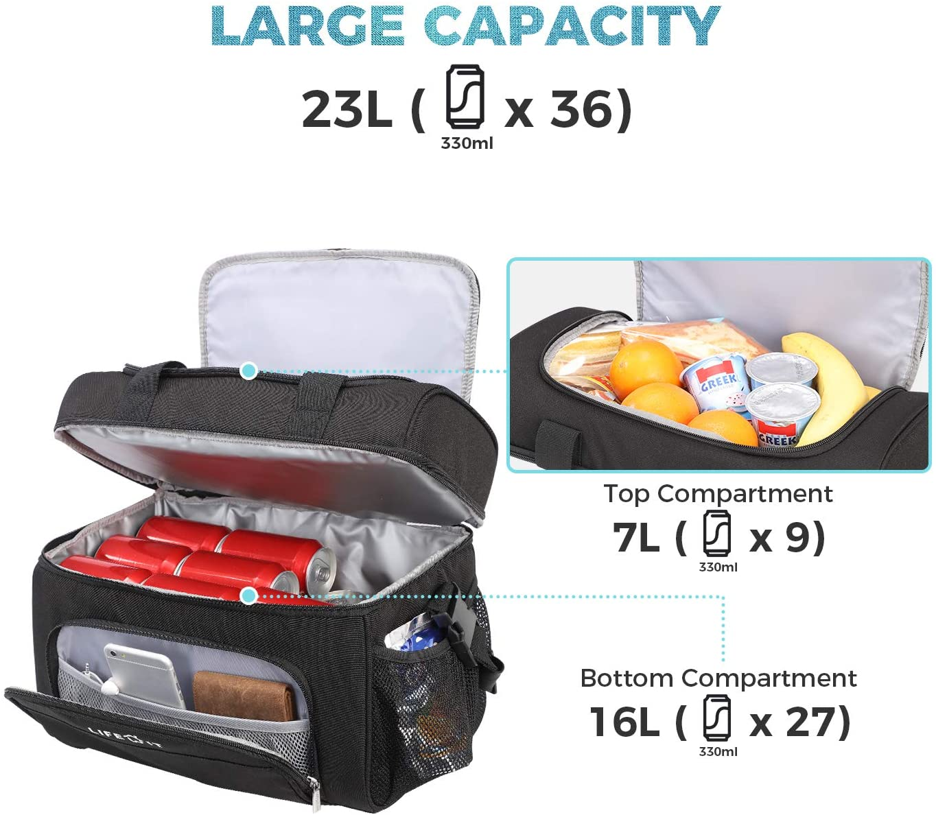 Insulated Cooler Bag 32-Can
