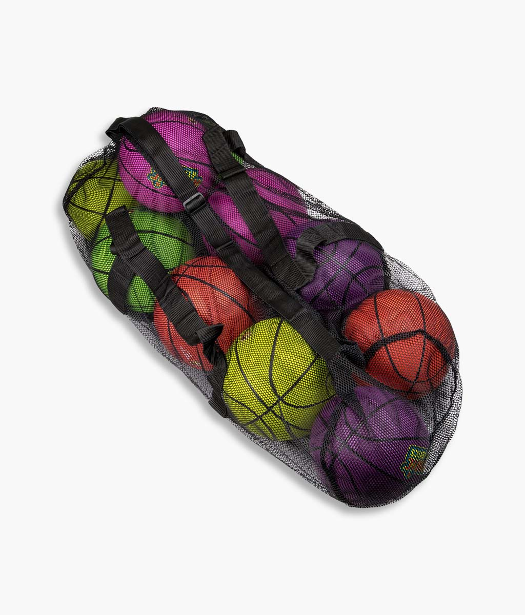 Mesh Sports Ball Bag with Adjustable Shoulder Strap