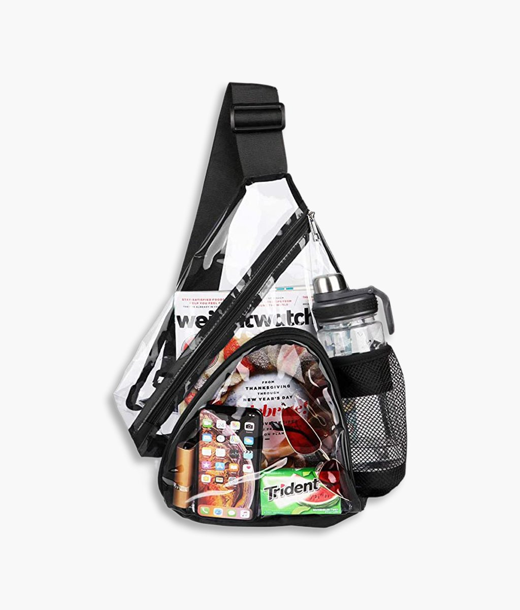 Fashion Clear Sling Bag Backpack