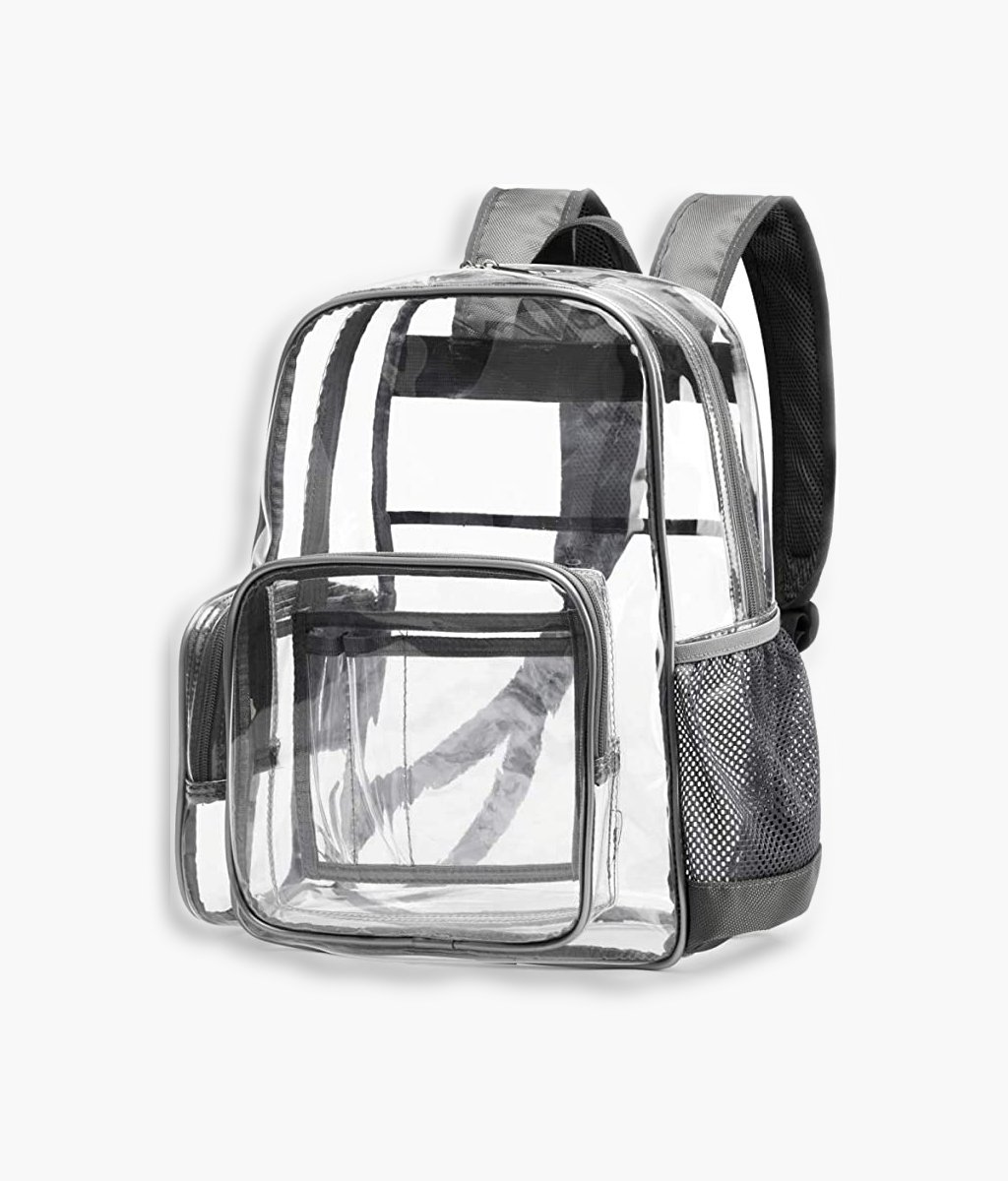 Clear PVC Backpack Stadium Approved