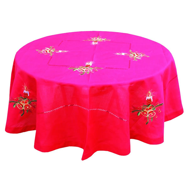 Round Christmas Table Cloth Featured Image