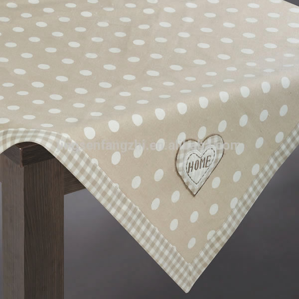 Fancy Tablecloths With Dots Printing Featured Image