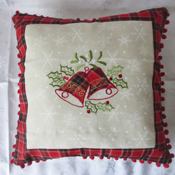 Wholesale Embroidered Cushion For Christmas
