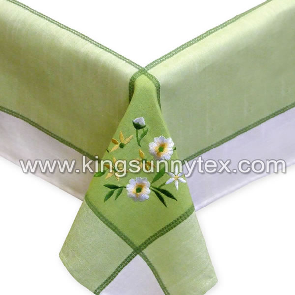 100% Polyester Flowerl Embroidery Table Cloth Featured Image