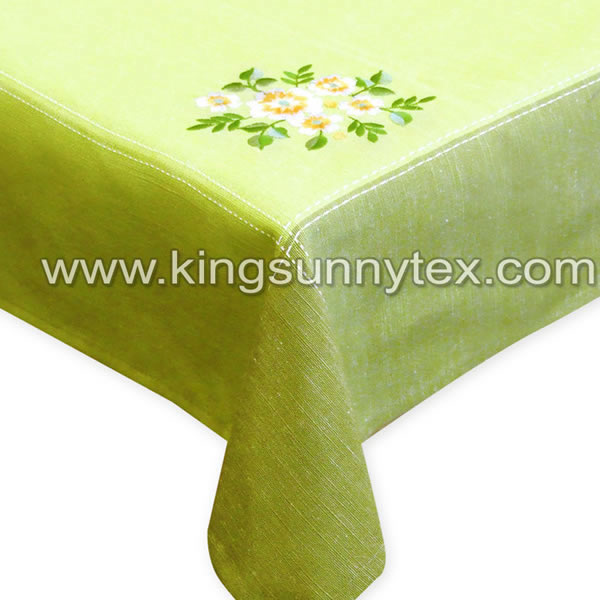 Beautiful Tablecloth With Embrodiery