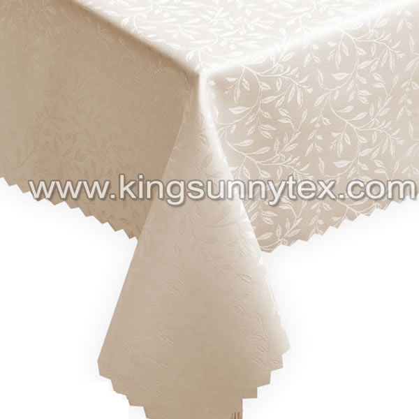 Beautiful Anti Stain Jacquard Table Cloth For Party