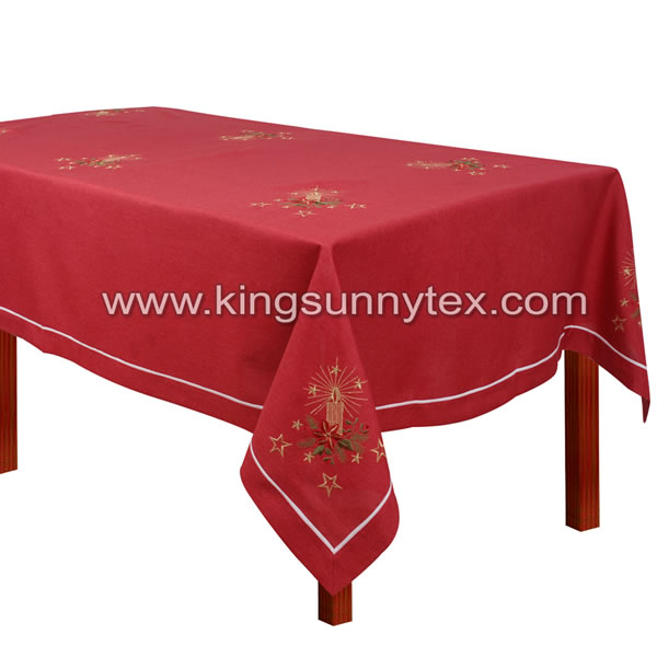 Custom Table Cloth With Christmas Designs For Decoration