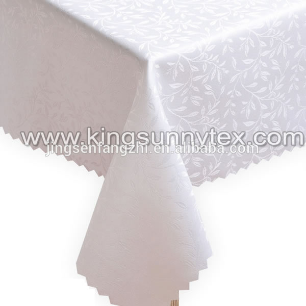 Elegant Jaquard Table Cloth Damask With Willow Design