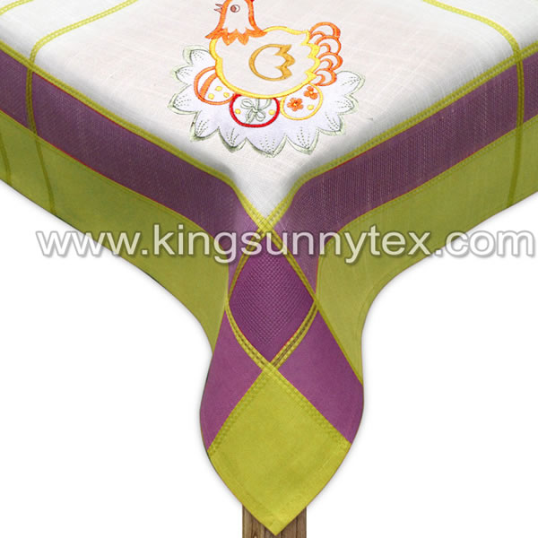 Beautiful Chicken Design Easter Tablecloth