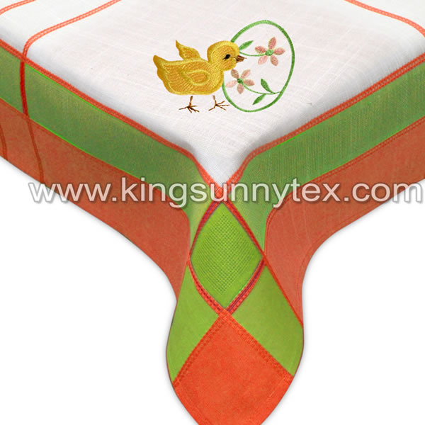 Cotton Polyester Rectangular Decoration Cloth With Little Duck Design