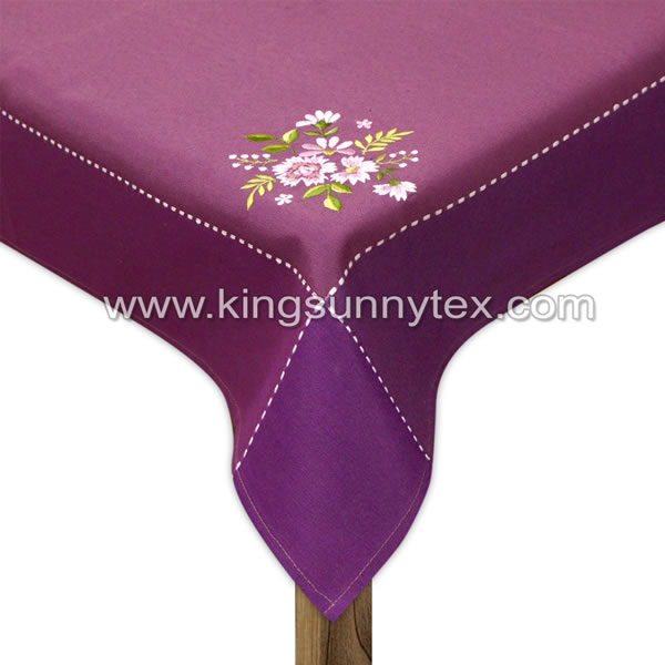 Easter Tablecloth With Flower Embroidery Des.9