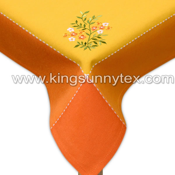Easter Tablecloth With Flower Embroidery Des.9 Featured Image
