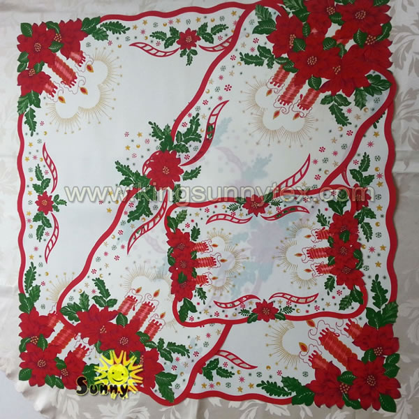 Printed Polyester Table Cloth For Christmas Des.4