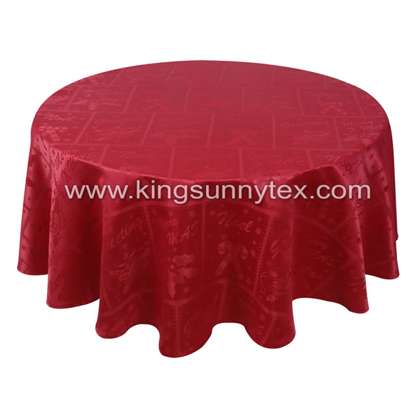 Round Water Proof Table Cloth Christmas