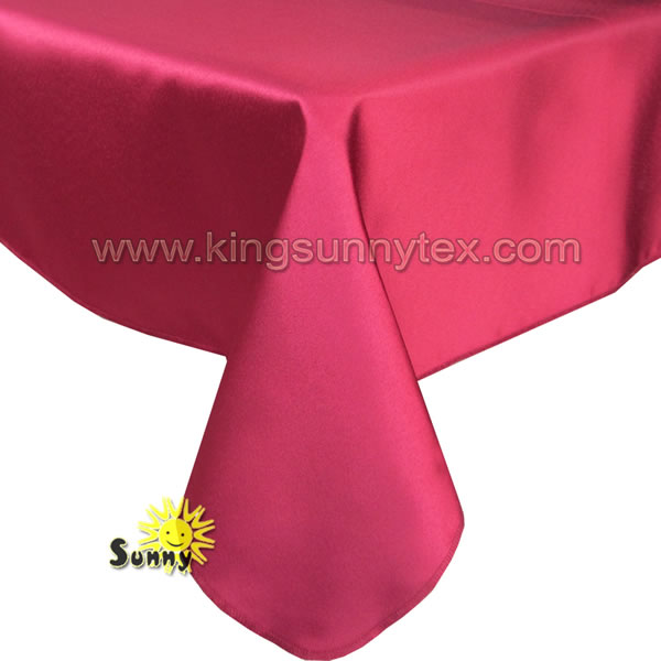 Beautiful 120 Round Satin Tablecloth For Wedding