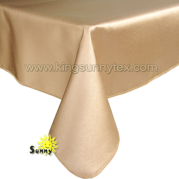 100% Polyester Table Cloth For Wedding Party And Banquet