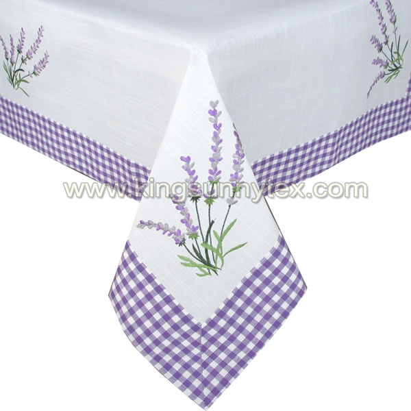 Spring and Summer Tablecloth with flower Design-1 Featured Image