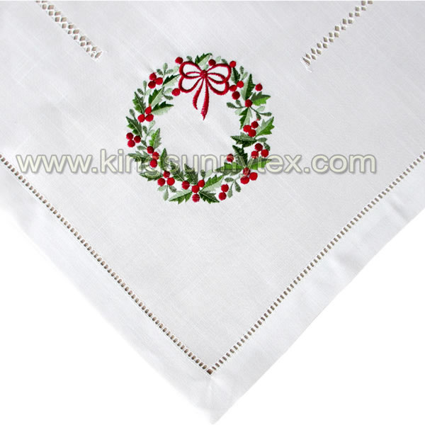 Embroidery Christmas Table cloth Design-7 Featured Image