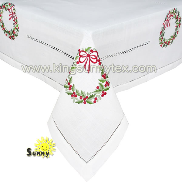 Embroidery Christmas Table cloth Design-7