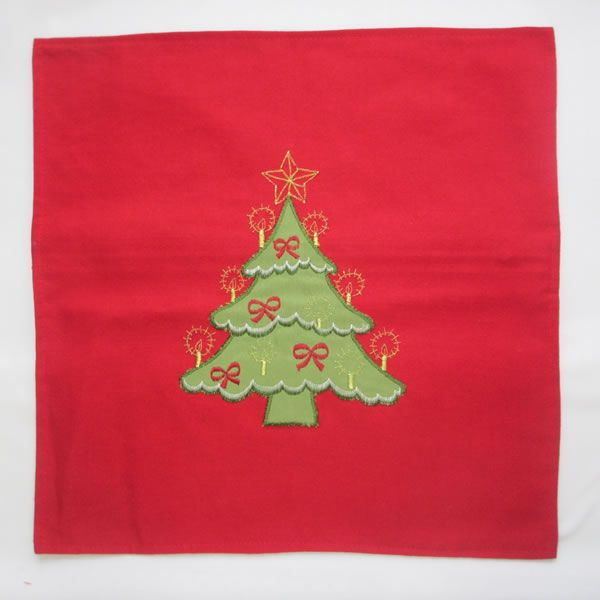 Christmas Tree Embroidery Cushion cover 1213-46 Featured Image