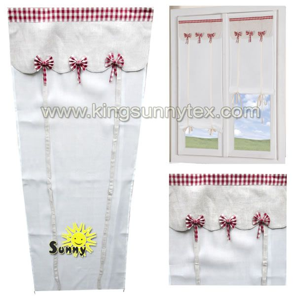 red bow curtain for living roon WHL 2133
