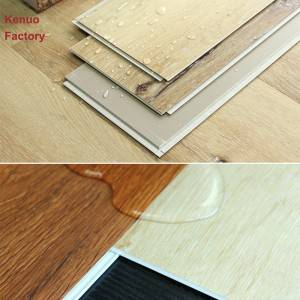 UV Coating Surface Treatment No glue Self adhesive PVC Plastic Flooring