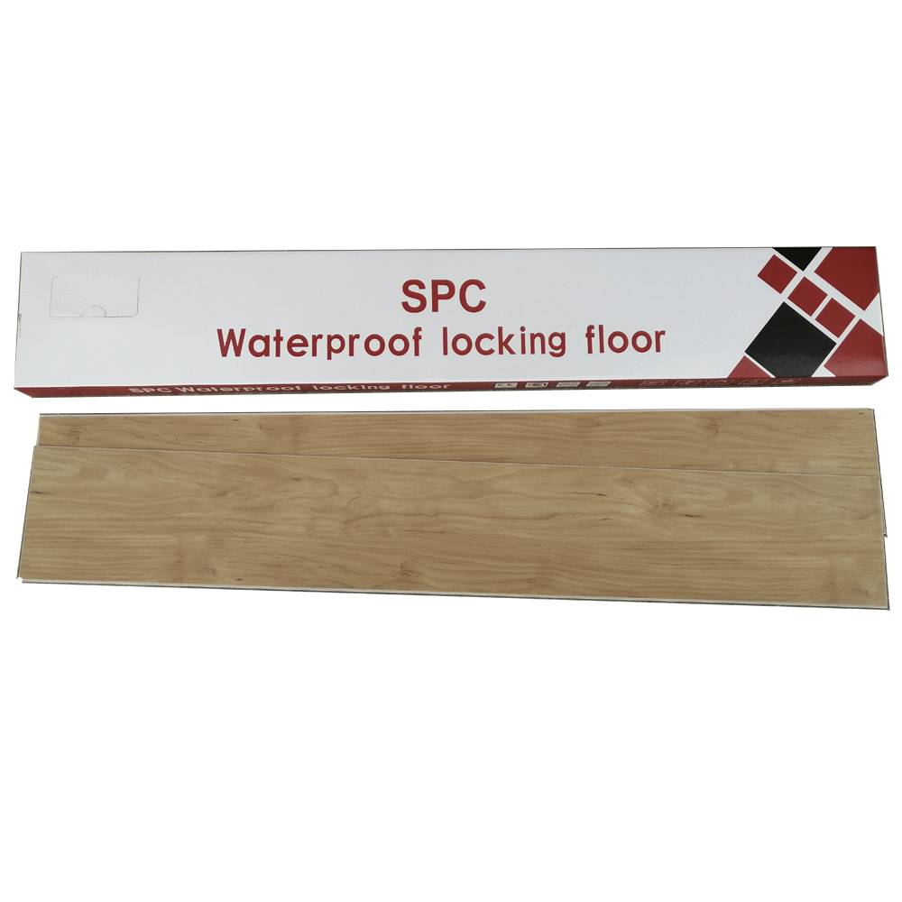 Virgin PVC material SPC flooring with click system 4mm thickness