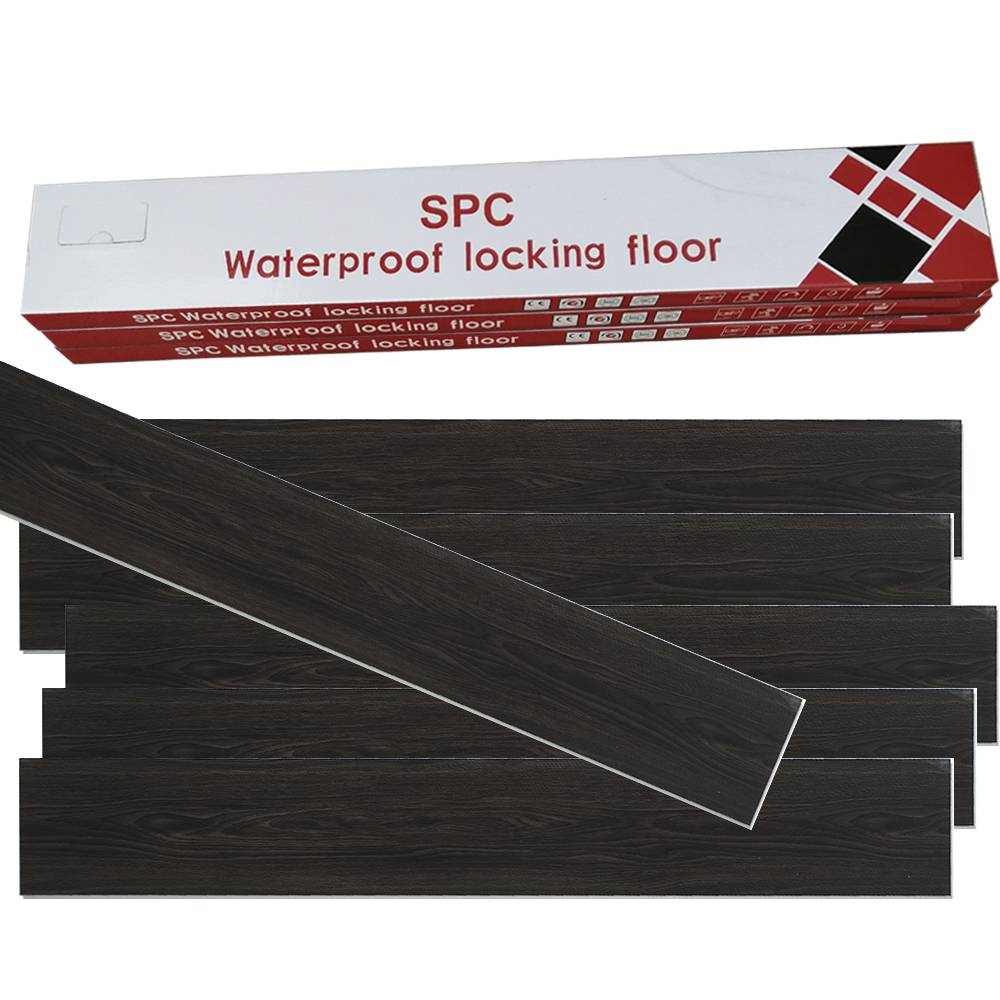 Virgin PVC material SPC flooring  waterproofing flooring with click system 4mm thickness