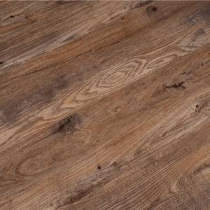 Fireproof wood look click spc vinyl bathroom floor tile
