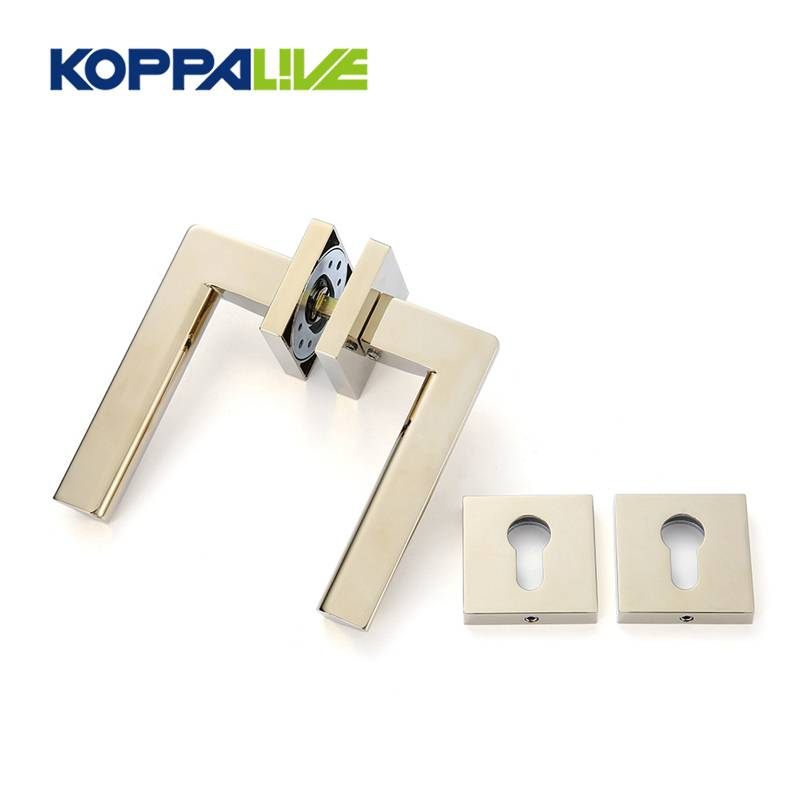 Modern design lever door handle lock set custom zinc alloy for wooden door