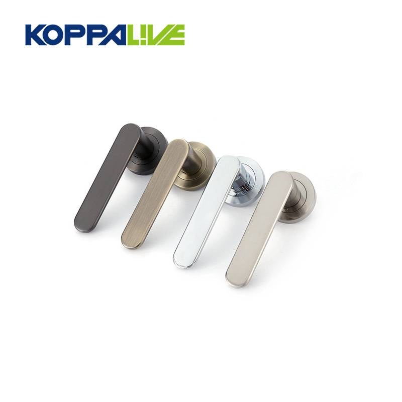 KOPPALIVE top quality modern zinc alloy classic lock bedroom interior pull lever door handle