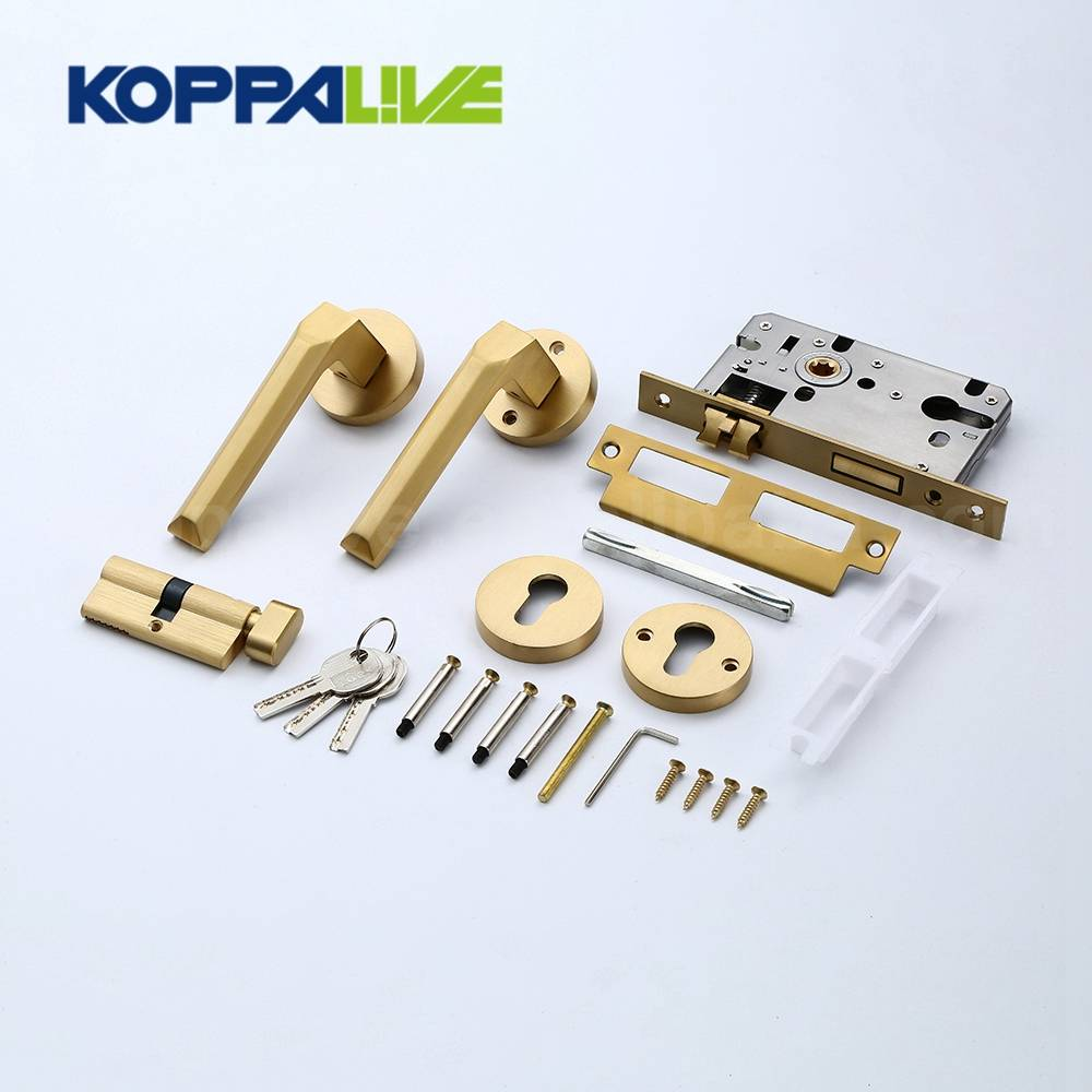 Hot Selling Own Brand Home Furniture Hardware Brass Round Mortise Lever Security Door Lock and Handle