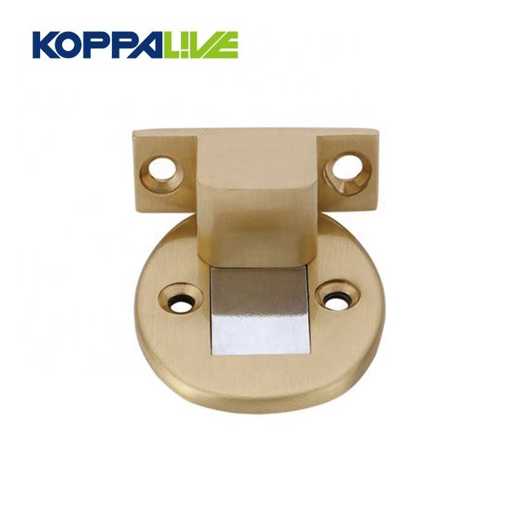 High-end custom hardware furniture brass material wooden door metal stops door stopper