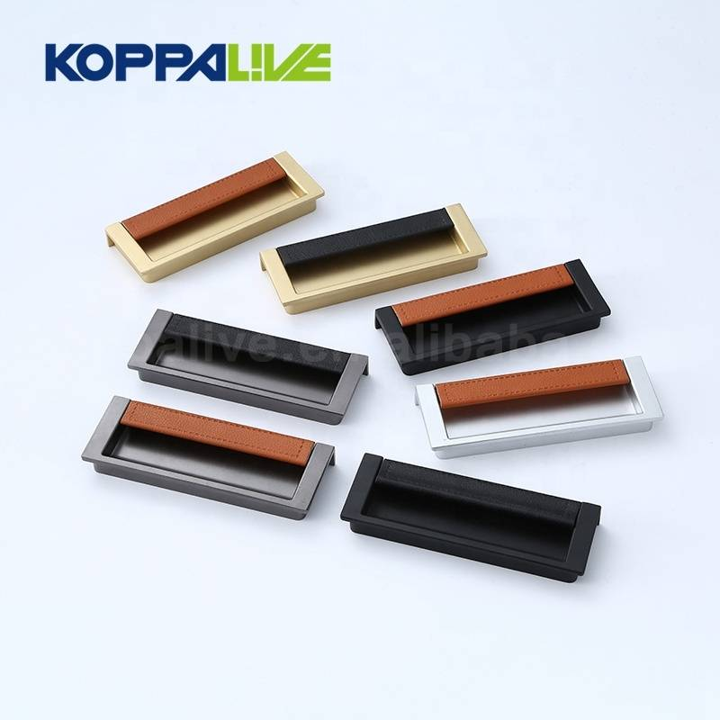 Hot Selling Custom Color Single Side Recessed Furniture Handles Cupboard Concealed Door Handle
