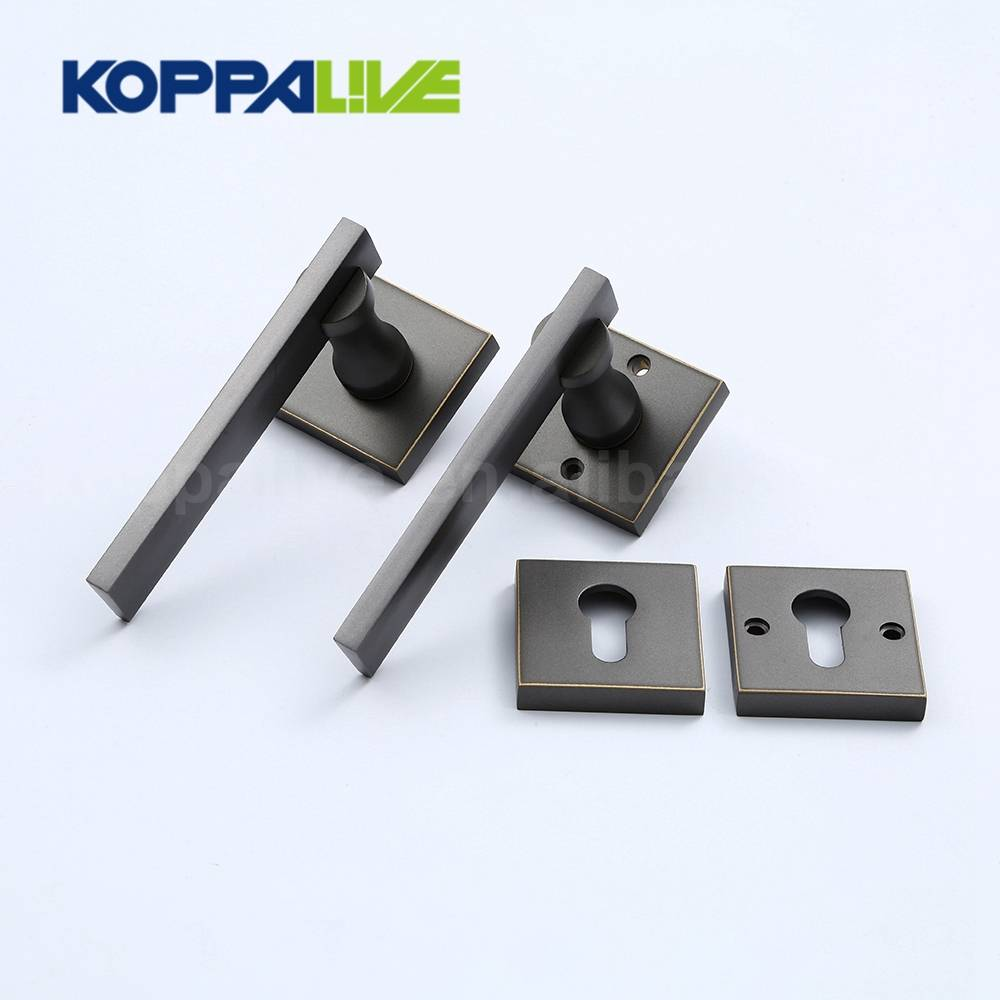 High security design luxury furniture bedroom main door handles locks set brass mortise lever door lock