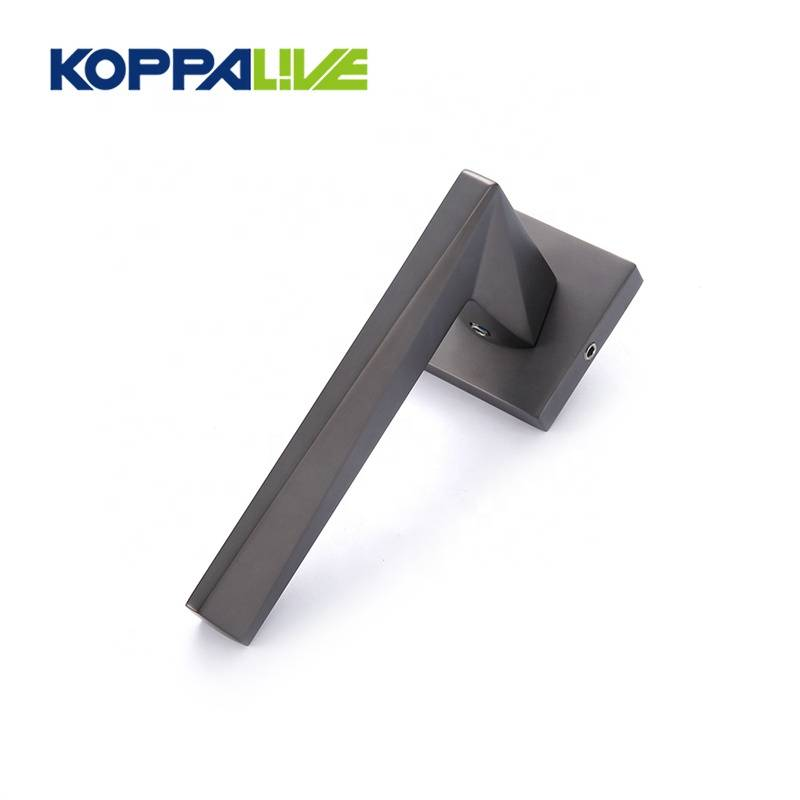 New style zinc alloy interior lever black door lock handle for hotel home