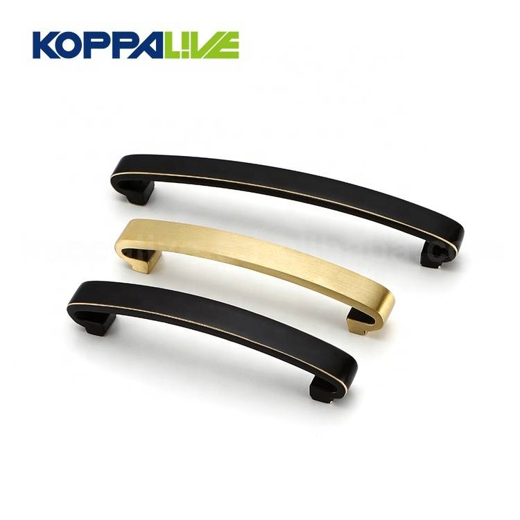 Modern exquisite hardware fittings brass door pull wardrobe accessories handles for dresser
