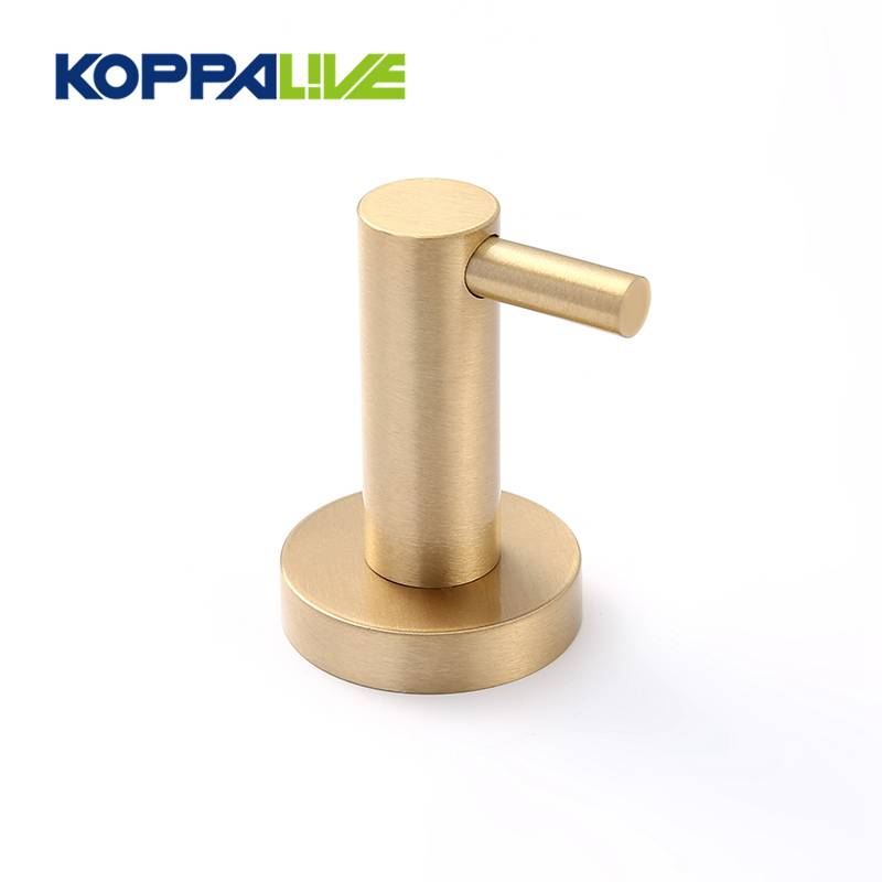 Nordic customized bathroom heavy duty wall mount coat towel hook solid brass clothes hat hook