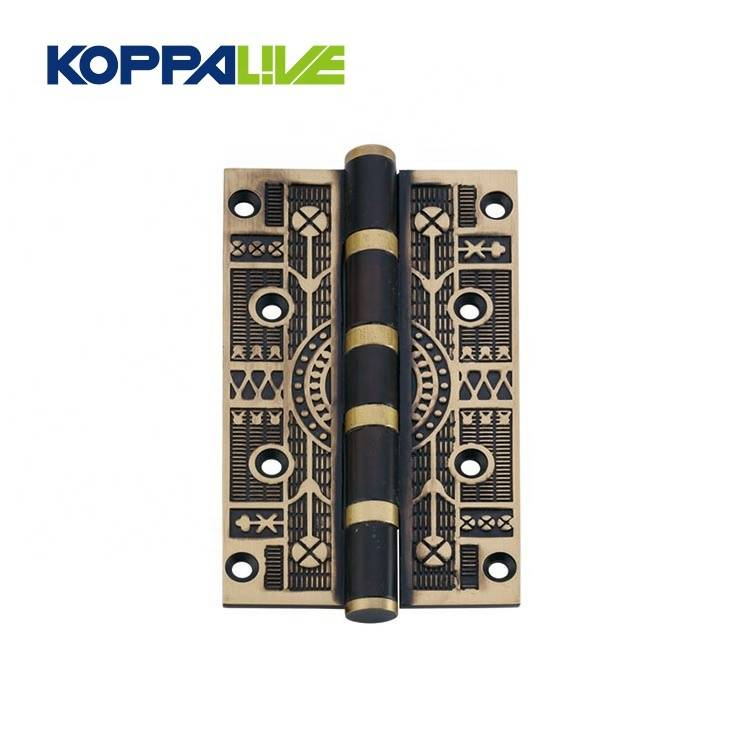 Furniture hardware european style butt bearing brass wooden door hinge