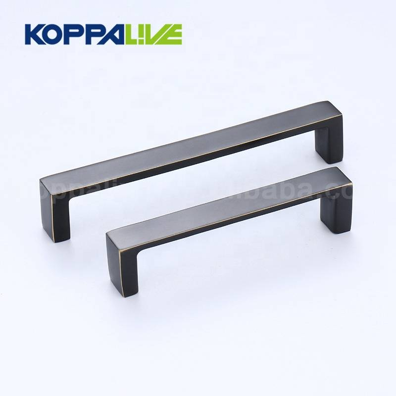 Good quality black hardware furniture kitchen cabinet brushed solid brass cupboard wardrobe pulls handle