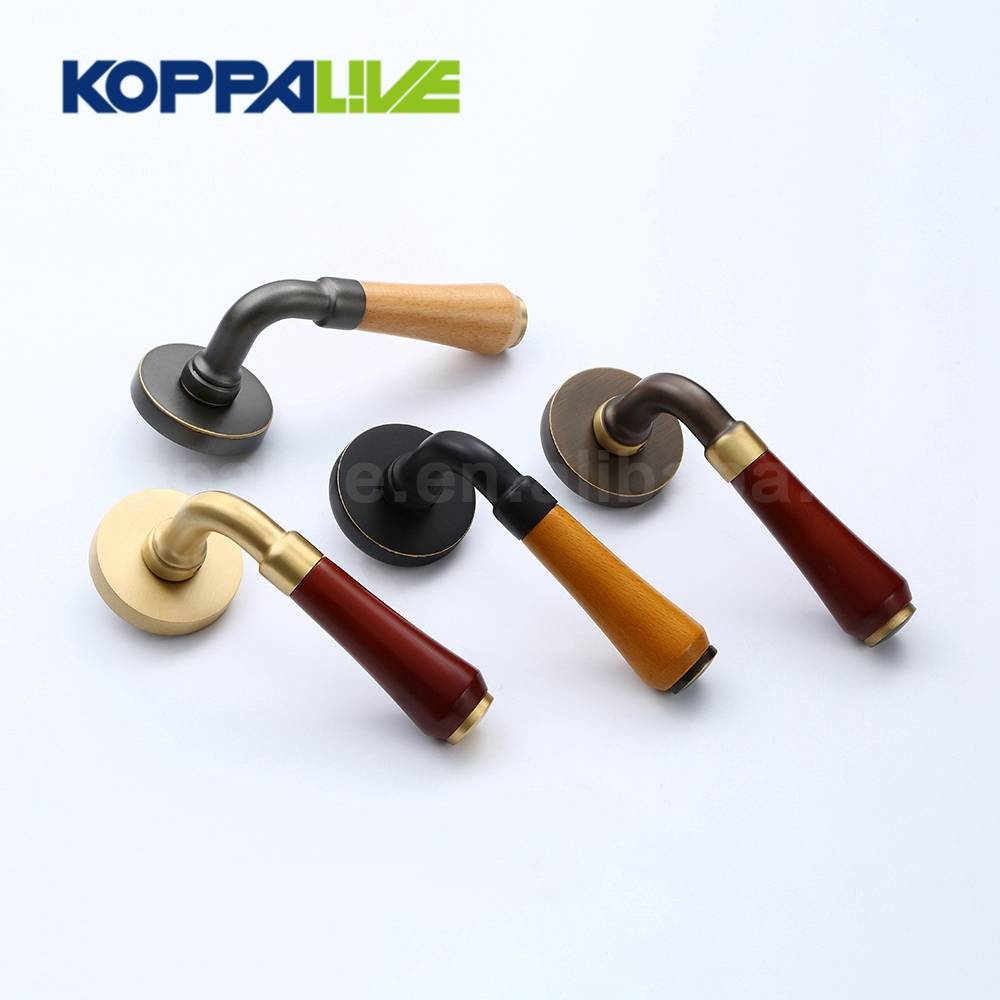 European Style Home Hardware Furniture Antique Brass Hotel Interior Door Mortise Key Lock Lever Handle Set